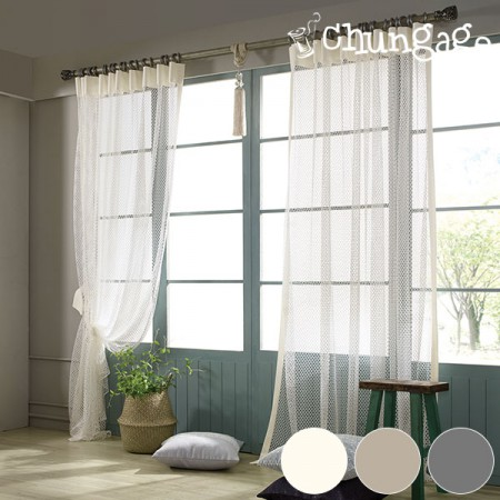 Wide-mesh curtain paper) Audi (3 kinds)