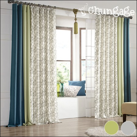 Wide - curved curtains) Follow (2 types)