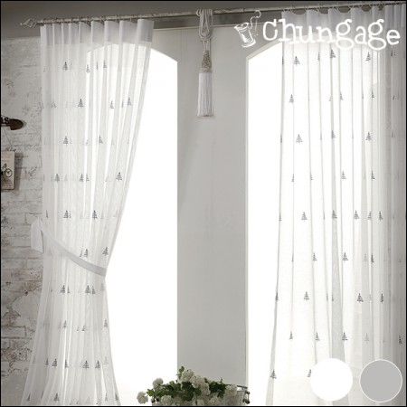 Wide-embroidered curtains) Topaz