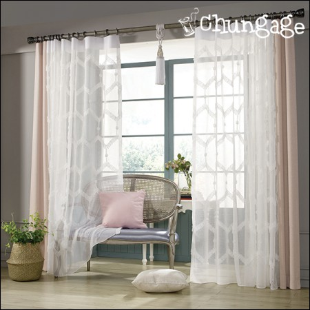 Wide-embroidery curtain paper)