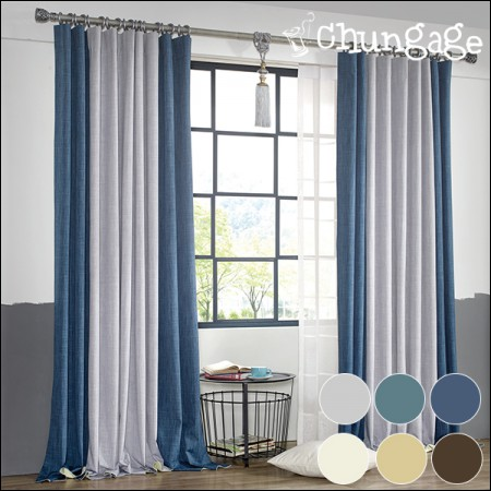 Large-dark curtains) Canoes (3 types)