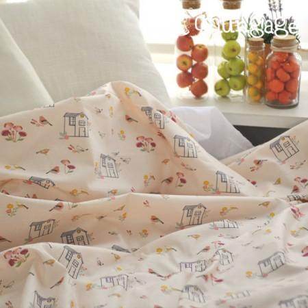 Top grade DTP20 woven fabric) Dahlia bird