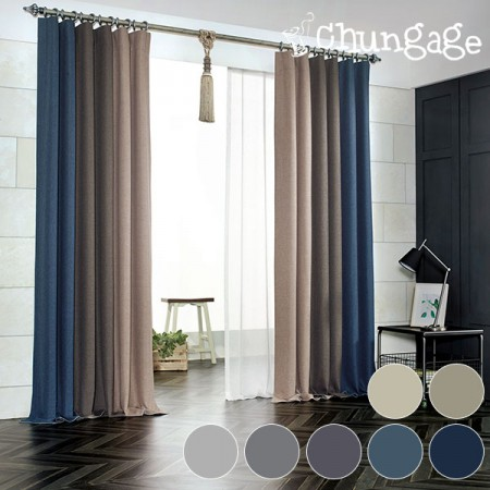 Large-dark curtains) Loom plain (7 kinds)