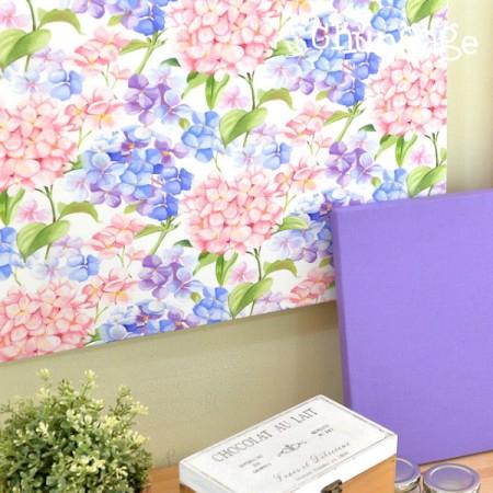 Finest DTP20 woven fabric) Romantic hydrangea