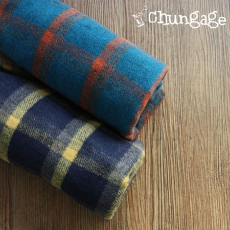 Widescreen - Wool blend) Wool blend acrylic check (2 kinds)