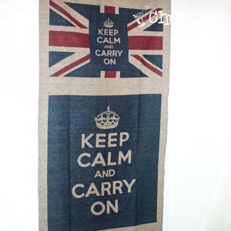 Linen cut paper) Keep calm foot mat & lug cut paper