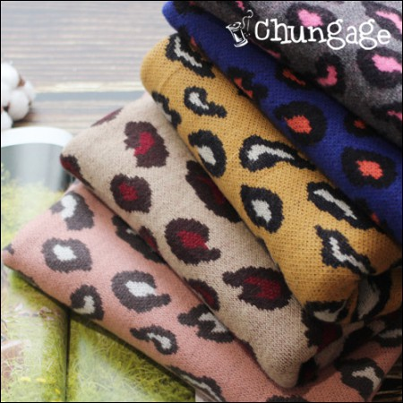 Large-soft brushed knit) Leopard Hopi (5 species)