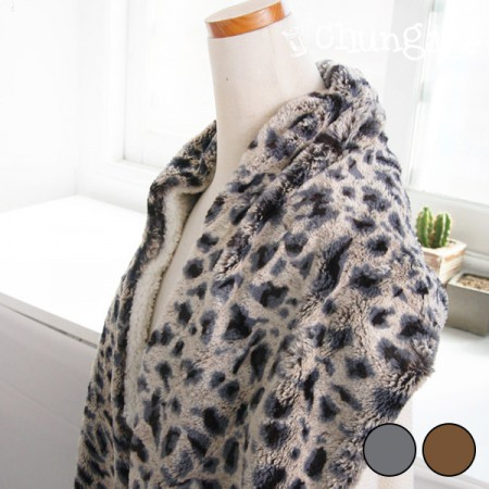 Large-wool fabric) Leopard (2 kinds)