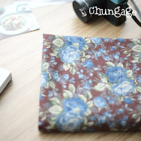 Big-brushed cotton) Vintage rose (Brown)