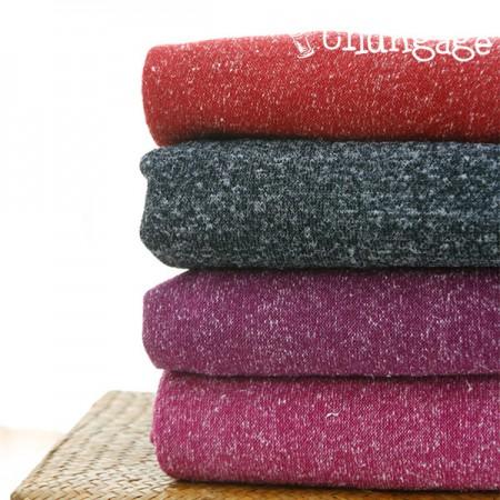 Large - bokashi knit fabric) Berry bokashi (four kinds)