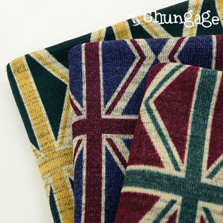 Large-brushed knit fabric) Union Jack (3 kinds)