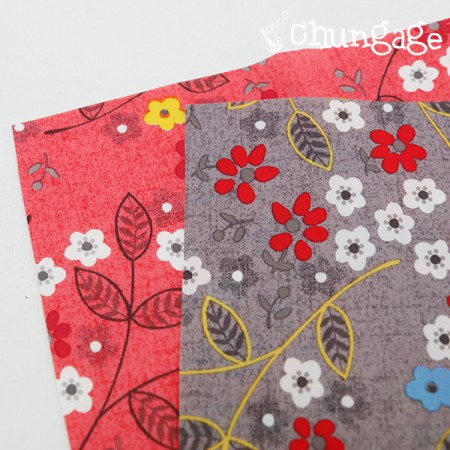 Large -Polytewill waterproof fabric) Happy flower (two species)