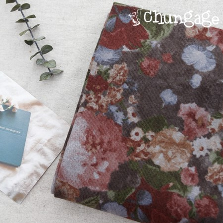 Large-sized brushed fabric) Genie Flower [A-471]