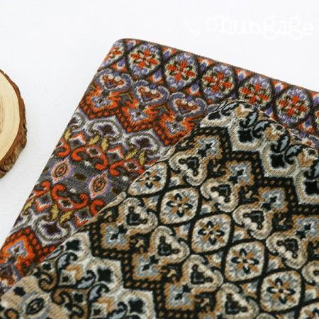 Large - brushed knit fabric) arabesque (two kinds)