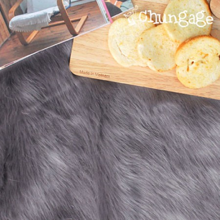 Large-sized artificial fur) Artificial fur Fur gray system 1 / 2Hermp