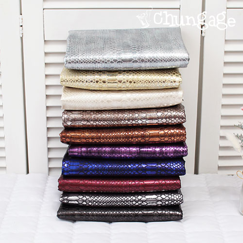 Synthetic leather Soft Synthetic leather Python series 1 / 2Hermp (10 kinds)