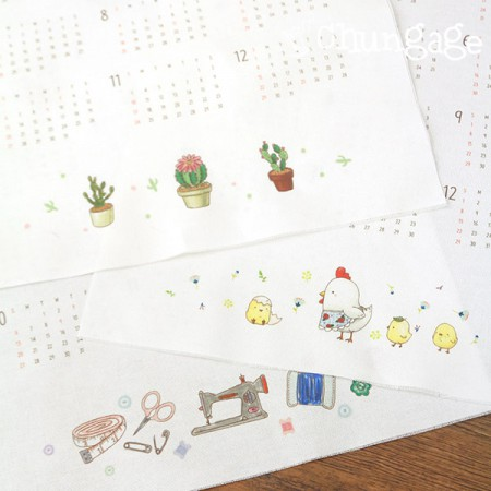 DTP Oxford cut paper) 2019 Fabric calendar C type (three kinds)