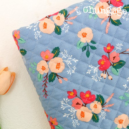 Cotton 20 horizontal straight nouveau fabric) Laura flower