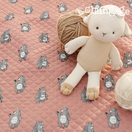 Cotton 20 Horizontal Straight Nouveau Fabric) Chess Bear