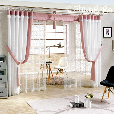 Wide-embroidered curtains) Melody embroidery