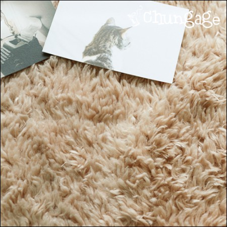 Large - section wool fabric) Fogne Beige