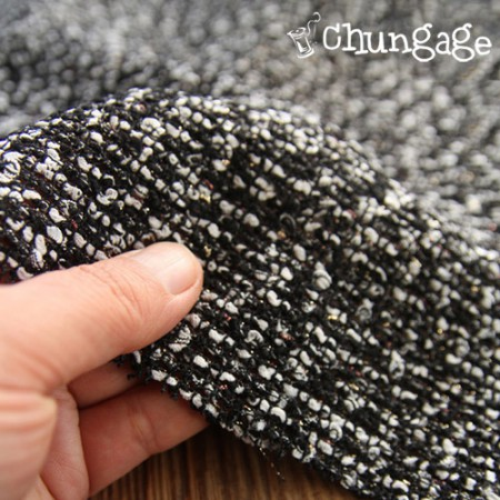 Widescreen - Wool Dye) Tweed Gold Pearl - Black & White