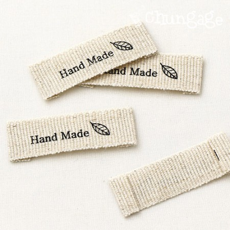 Handmade linen label Natural Leaf [LB014]