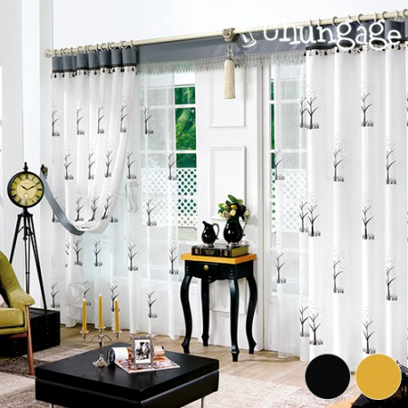 Wide-embroidery curtain paper) embroidery embroidery (two kinds)