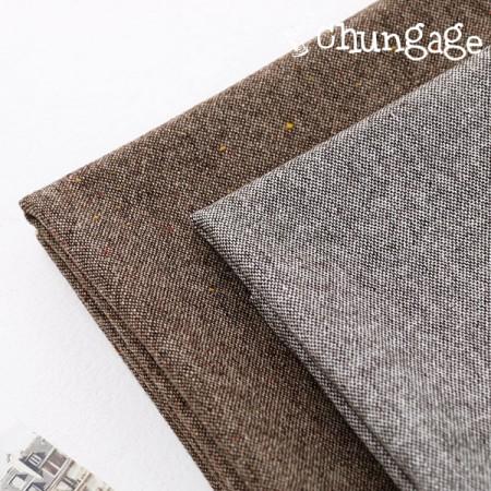Large-home span fabric) Vintage Brown (2 species)