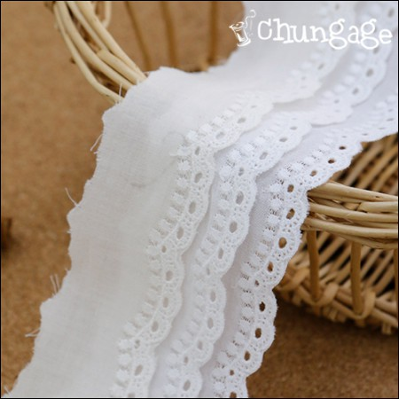 Cotton Lace Cotton 085 dot line (3 kinds)