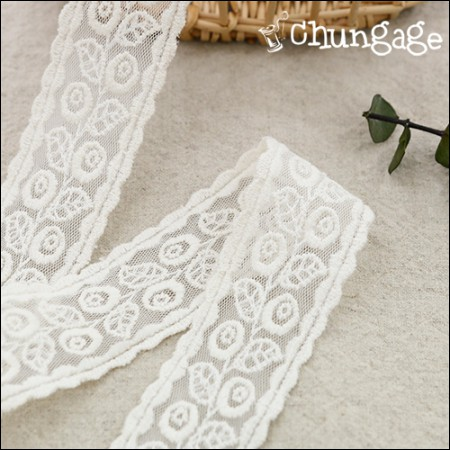 Mesh Lace Mesh046 Mongle Rose Double Sided Natural