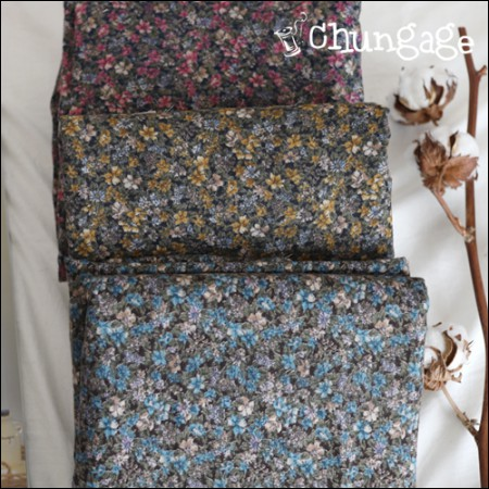 Brushed-cotton) Charming Garden (3 kinds)