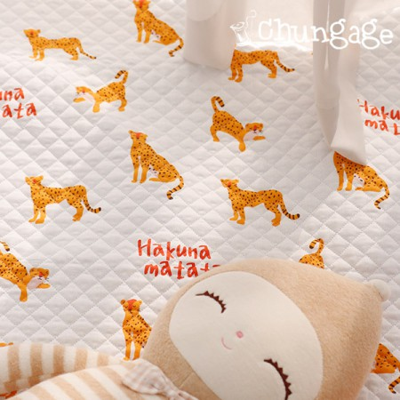 Cotton 20 horizontal straight nouve fabric) Hakuna matata