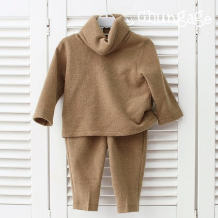 Large-brushed knit) Soft brushed knit ground - beige spring