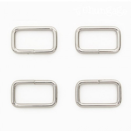 Bag connecting square ring Basic ㅁ Ring square ring Silver 30mm