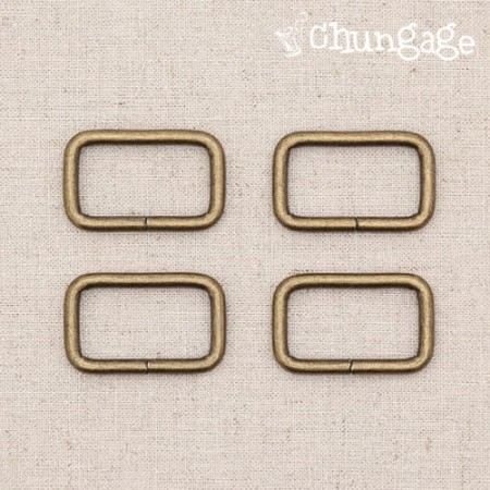 Bag connecting buckle ㅁ ring square ring antique (3 species)