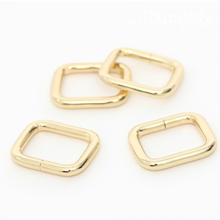 Bag connection decoration Basic ㅁ ring square ring Gold (3 kinds)