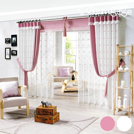Wide-embroidery curtain paper) Angel embroidery (two kinds)