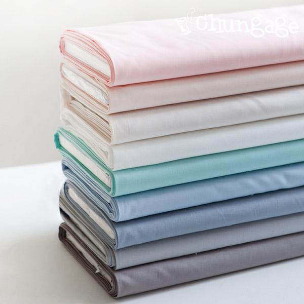 Organic Cotton 20 Water Organic Cotton) Plain Texture (9 kinds)