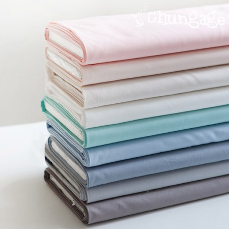 Organic Cotton 20 Count Organic Fabric Ombre Plain 9 Types