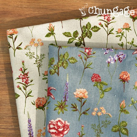 Large -11 can linen) Cheshire Garden (3 kinds)