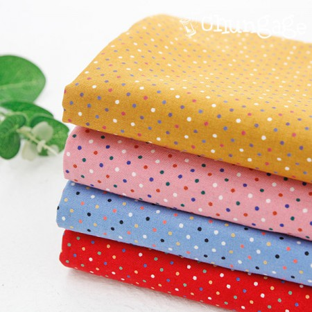 Cotton 30) Color pop dots (4 kinds)