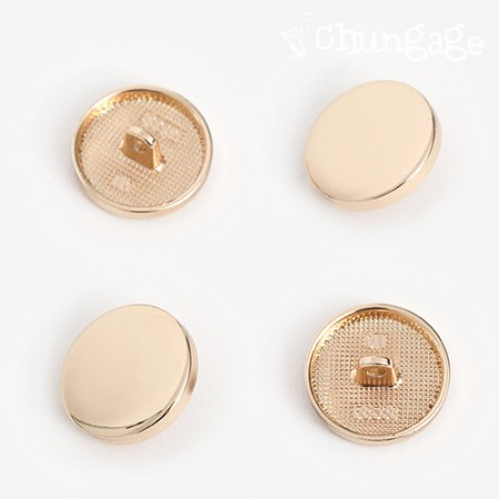 Point round button 20mmGold [4 pieces]