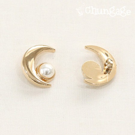 Luminous Pearl Button 25mmGold [2 pieces]