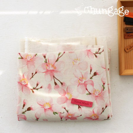 Greatly - the finest DTP11 can linen) Romantic cherry blossoms