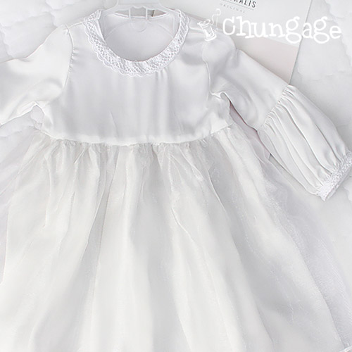Greatly-Shatin Water Silk) White Dress
