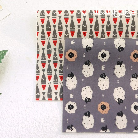 Laminate fabric) Animal gray (2 kinds)