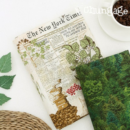 20 woven textiles) Coffee tree forest (2 species)