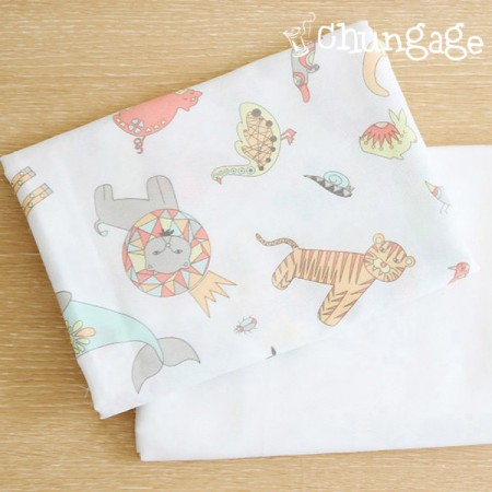 Handkerchief cut paper) strange animal kingdom (two kinds)