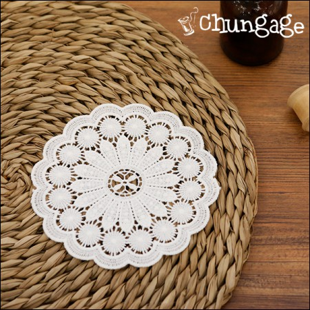 Veronica white lace motif